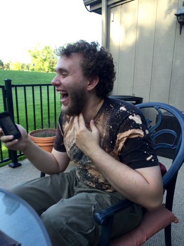 Logan laughing