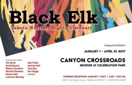 Black Elk exhibition postcard