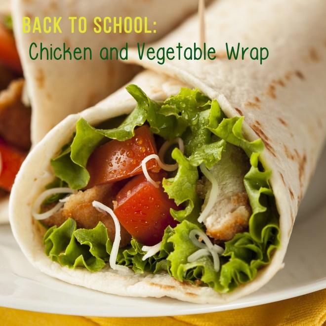 Breaded Chicken in a Tortilla Wrap