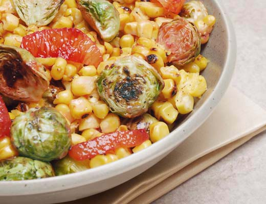 BlogPost_WhattoMakeThisWeek_Fall_1_Blood_Orange_Glazed_Brussels_Sprouts_Grilled_Corn_Toss_Large