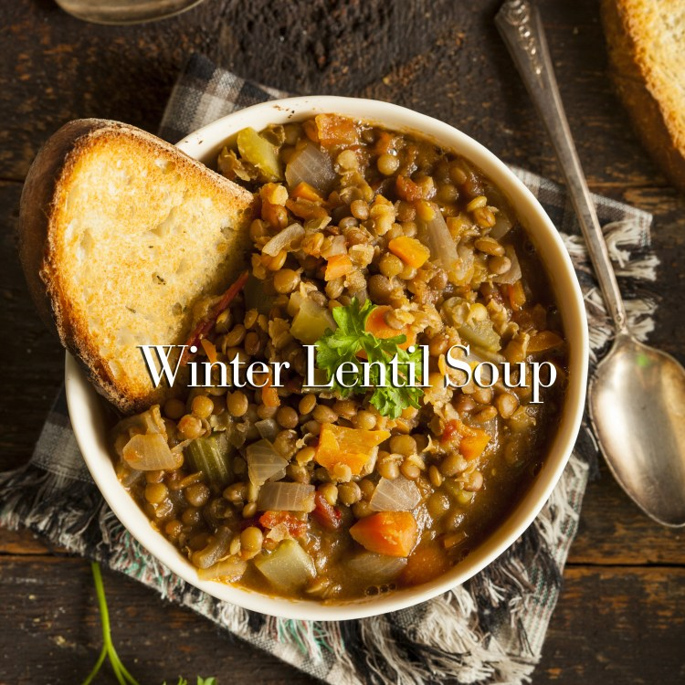 Homemade Brown Lentil Soup