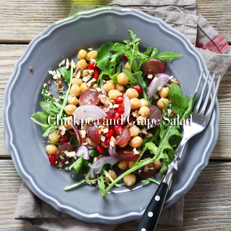 Chickpea salad on a plate