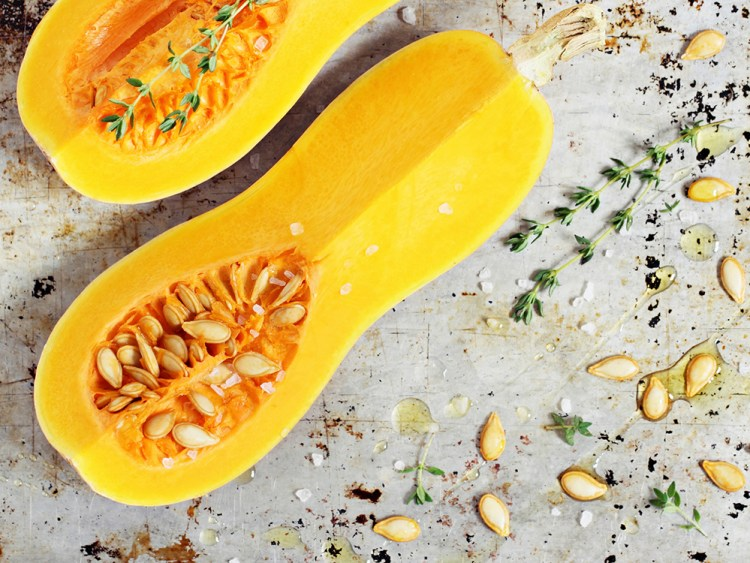 Fresh butternut pumpkin (squash) .