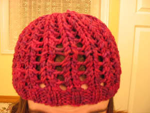Ribbed Lace Hat2