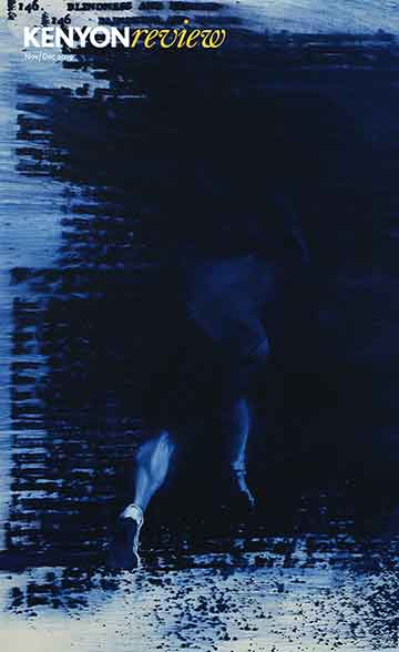 Image of bluish blurry body in motion