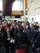 The lobby was packed as the crowds waited for the doors to open.