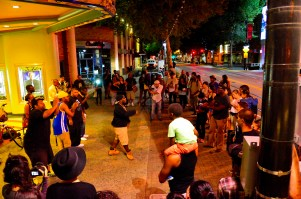 #TheMostOpenMicInTheCity -- Summer series takeover with Paul Willis center stage. Photo: Alexander Amaya