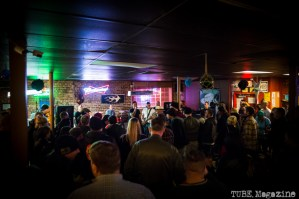 West Lords playing to a packed house at The Hideaway during their CD release show. Sacramento CA. 2015 Photo Melissa Uroff.