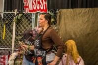 Walking Dead fan posing with Zombies