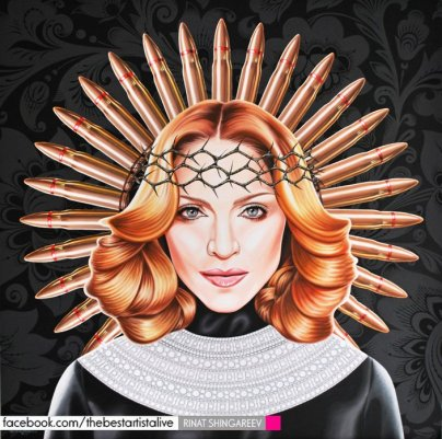 Madonna by Rinat Shingareev. Oil on Canvas.