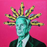 Michael Rubens Bloomberg by Rinat Shingareev. Oil on Canvas.