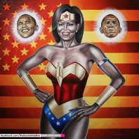 Michelle Obama by Rinat Shingareev. Oil on Canvas.