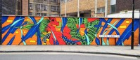 Justkids Mural in London by Bicicleta Sem Freio