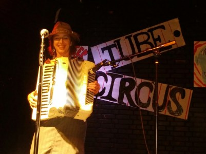 Julie the Bruce performing at the Blue Lamp for the TUBE. Circus located in Sacramento CA. May 15, 2015. Photo Naomi Lucchesi