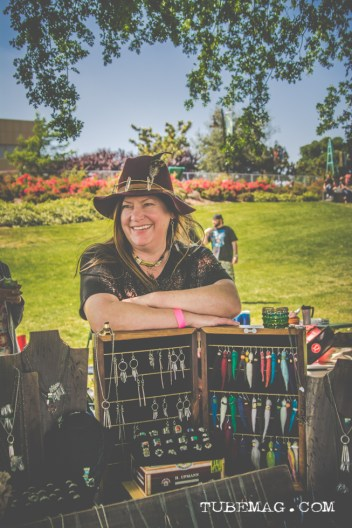 Julie from Chula Tribe selling her handcrafted jewelry Photo Sarah Elliott