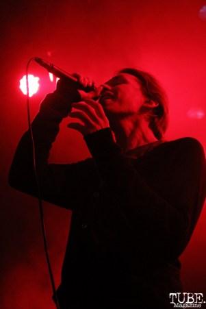 Singer of Mew, Jonas Bjerre, The Fillmore, San Francisco, CA.September 26,2015. Photo Anouk Nexus