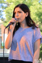 Xochitl, special guest, performing with Andrew Castro, Concerts in the Park, Cesar Chavez Park, Sacramento, CA. May 13, 2016, Photo Anouk Nexus