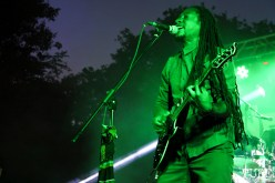 Stephen singer/guitarist and Courtney Sr. bassist of New Kingston, Concerts in the Park, Cesar Chavez Park, Sacramento, CA. May 13, 2016, Photo Anouk Nexus