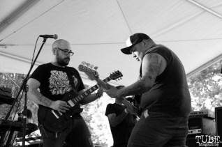 Cory Wiegert backup vocals/guitarist and Alex Dorame vocals/bassist of PEACE KILLERS, Concerts in the Park, Cesar Chavez Park, Sacramento, CA. June 3, 2016, Photo Anouk Nexus