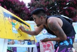Artist Carlo Cyphers, Concerts in the Park, Cesar Chavez Park, Sacramento, CA. July 15, 2016. Photo Anouk Nexus