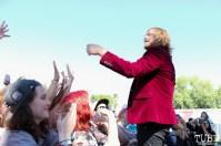 Vocalist Kyle Morris of The Unlikely Candidates, City of Trees, Bonney Field, Sacramento, CA. September 10, 2016. Photo Anouk Nexus