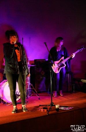 Natalia Yanni vocalist and Candice Krystle bassist of Ghoul School, Red Museum, Sacramento, CA. December 07, 2016. Photo Anouk Nexus