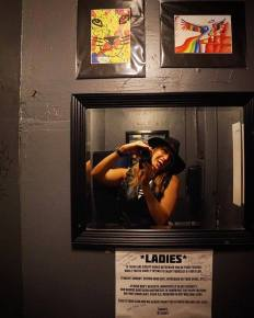 Photographer Joey Miller at TUBE.'s dance party and coloring book issue release, DOPE. The Press Club, Sacramento CA. April 2017. Photo Joey Miller.