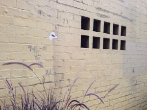 "Someone scrawled ""9-11-01 HA HA HA"" on this gated community."