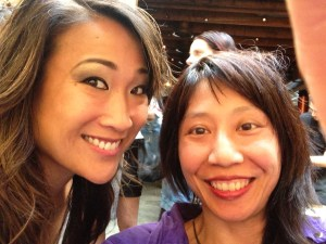 "Me & Tina Huang. I said, ""I think you're beautiful. Can we do a selfie?"""