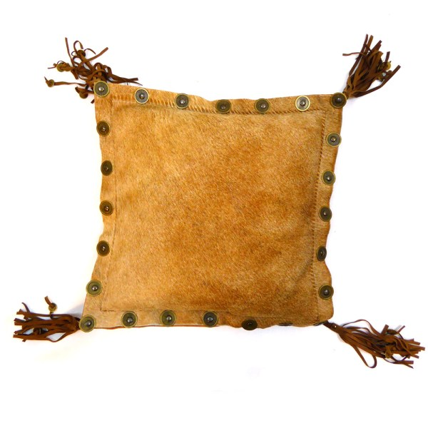 pillow cow brown light