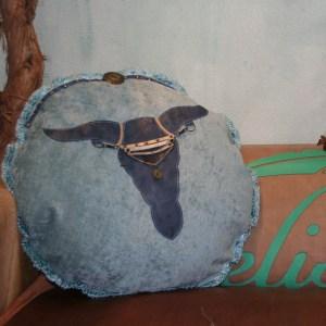 Bohemian bull kussen blue