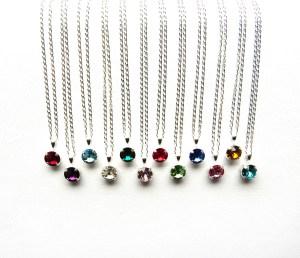 tiny birthstone necklace
