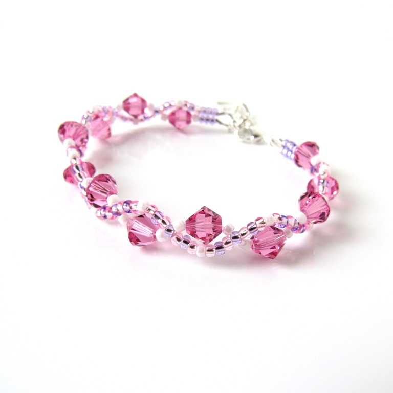 kids bracelet pink woven