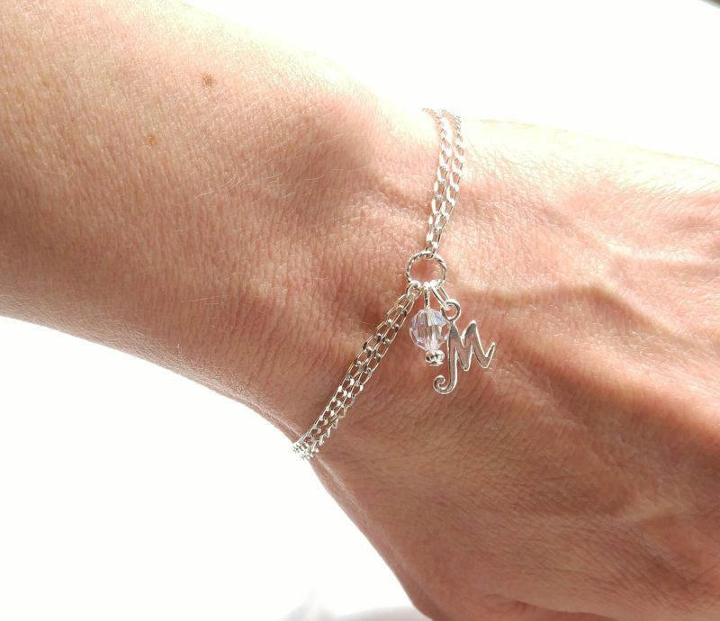 personalized bracelet silver