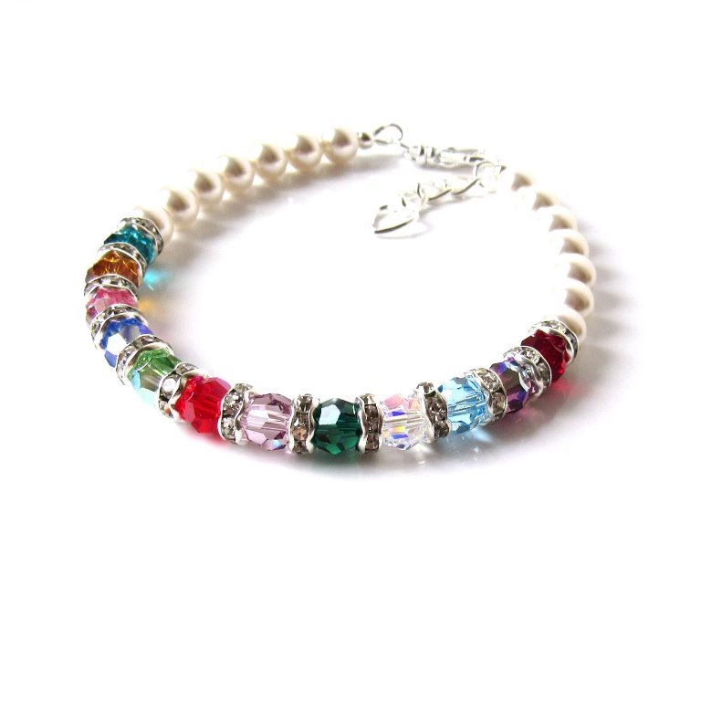 PB8-1-mothers birthstone bracelet with pearls