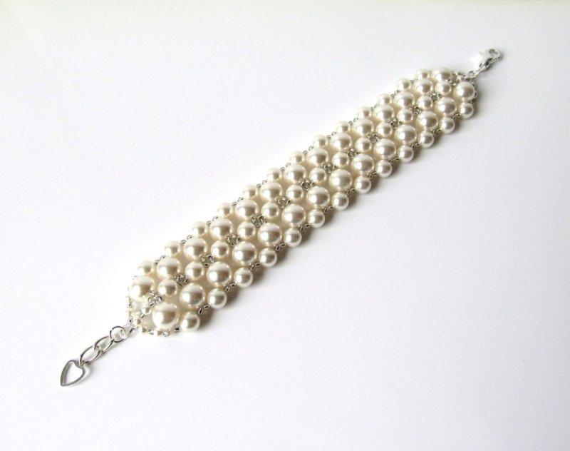 -beaded pearl cuff bracelet