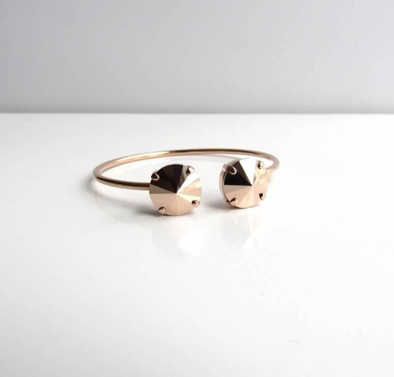 -rose gold pinch cuff bracelet