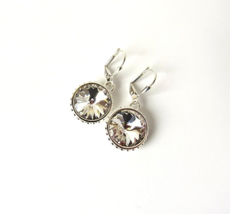 WE8-Swarovski crystal drop earrings 14mm