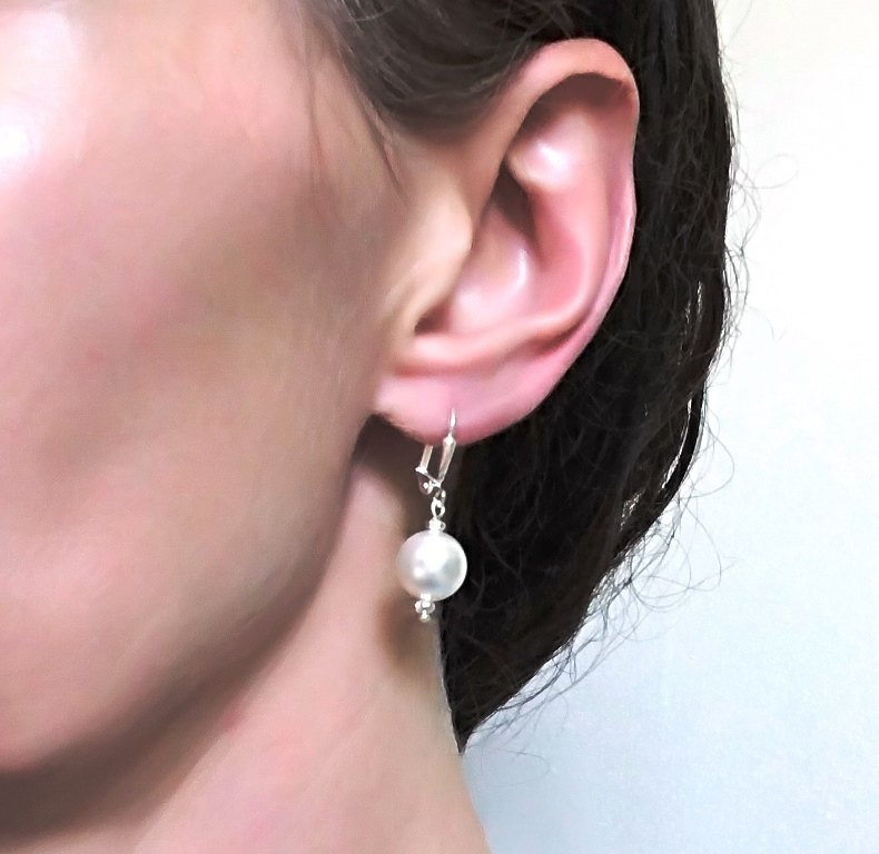 -Pearl drop earrings 10mm
