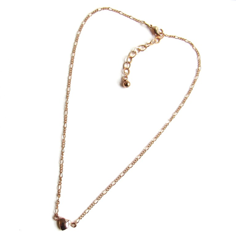 -rose gold tiny heart necklace
