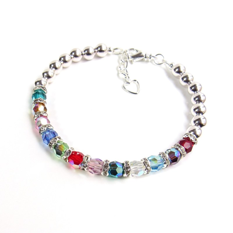 Family Birthstone Bracelet for Mothers and Grandmothers