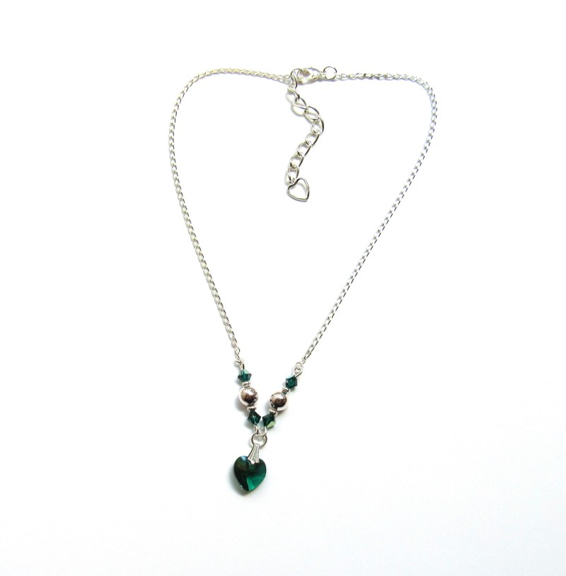 heart shaped birthstone necklace for girls and women