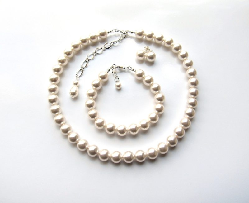 Large Big Pearl jewelry set