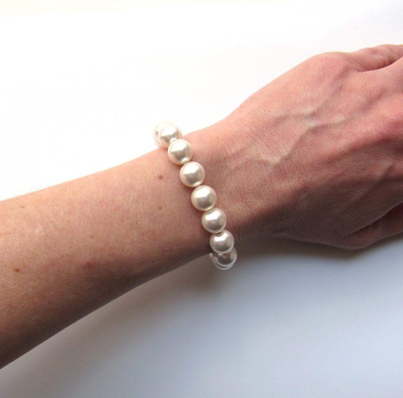 large big chunky pearl bracelet