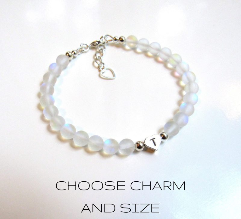 clear matte mermaid glass bracelet