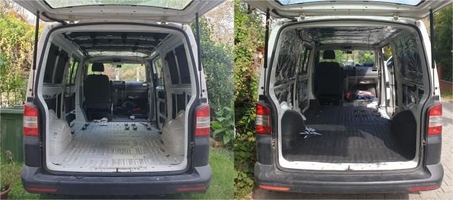 karavan yalıtımı öncesi ve sonrası