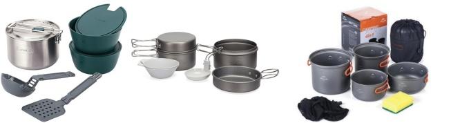 kamp mutfak malzemeleri pişirme seti