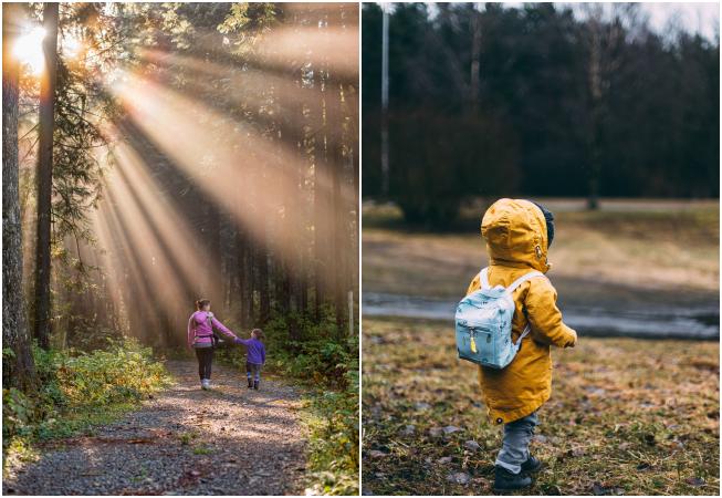çocukla doğa yürüyüşü