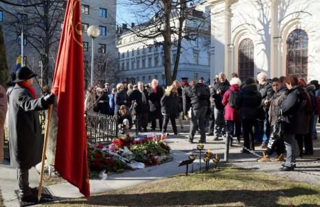 2016-02-28, 30 år sedan Olof Palme mördades, gravplatsen, Adolf Fredriks kyrkogård