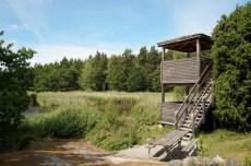 Lidingö, Västra Långängskärret, Linnmans fågelsjö, fågeltornet